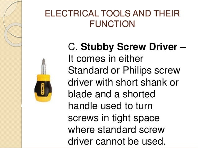 electrical tools and equipment pdf