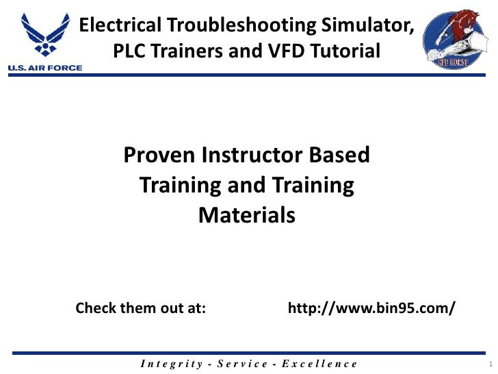1<br />Electrical Troubleshooting Simulator, PLC Trainers and VFD Tutorial<br />Proven Instructor Based Training and Train...