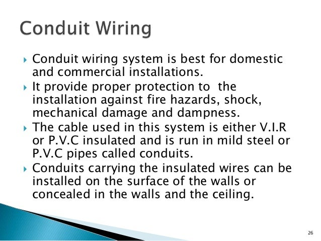 electrical wiring rh slideshare net what is surface conduit wiring what is half conduit wiring