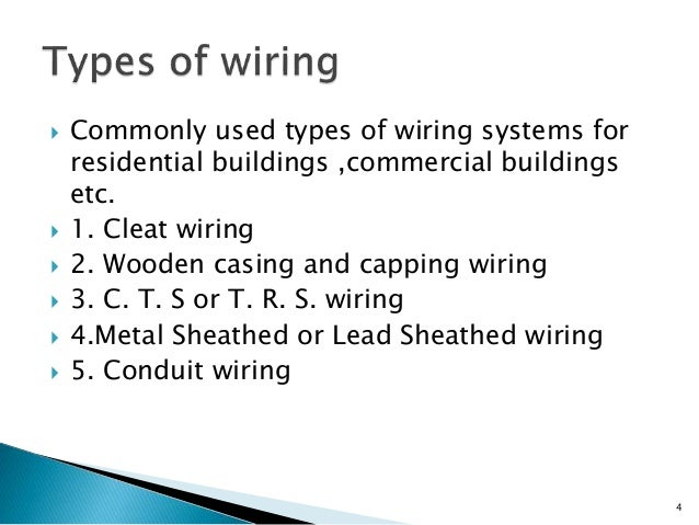 Sensational Type Of Wiring System Wiring Diagram Data Wiring Digital Resources Millslowmaporg