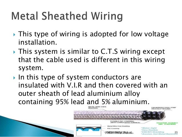 electrical wiring by jemish rh slideshare net types of wiring system pdf types of wiring system ppt