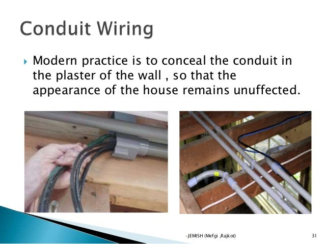 electrical wiring by jemish rh slideshare net Surface Mount Electrical Wiring Outside Electrical Wiring Sizes