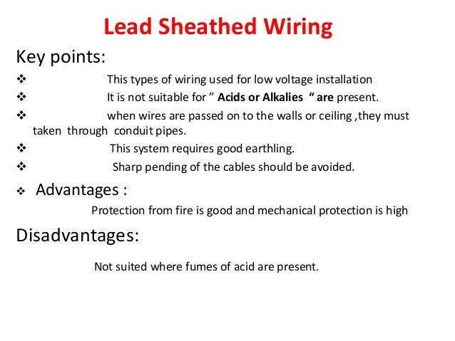 Wooden Casing And Capping Wiring 19 Lead Sheathed
