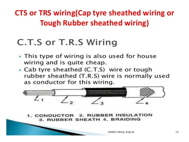 Lead Sheathed Wiring; 21. CTS or TRS ...  sc 1 st  SlideShare : trs wiring - yogabreezes.com