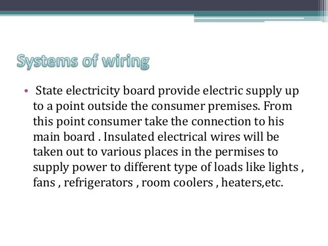electrical wiring system rh slideshare net Home Electrical Wiring Basics Residential Electrical Wiring Diagrams
