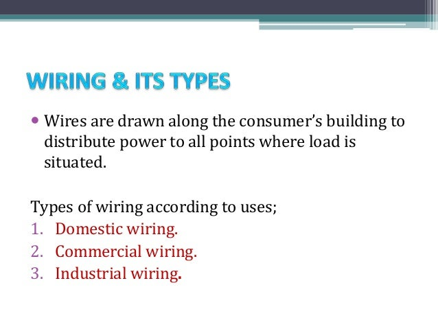 electrical wiring system rh slideshare net types of wiring system in hindi type of wiring system on 2012 glk-350