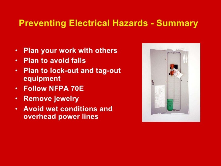 Electrical Workplace Safety on
