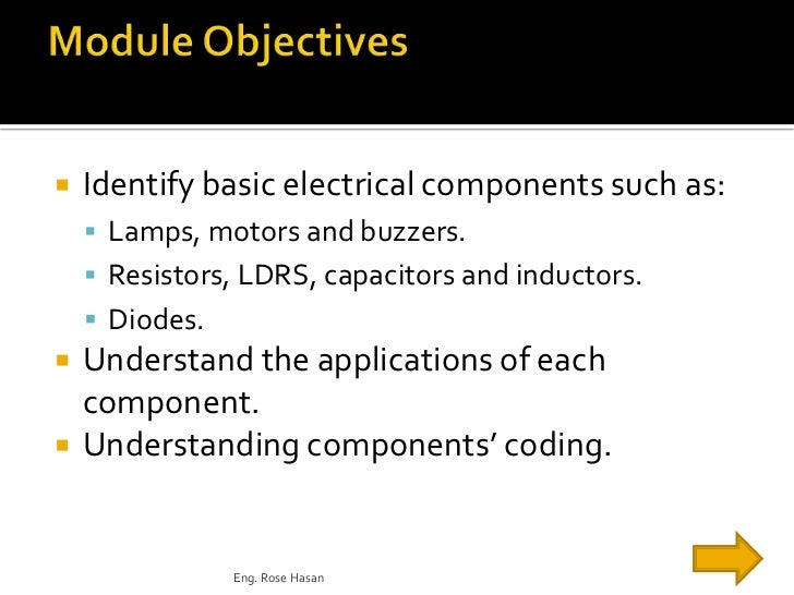 Electrical workshop module3