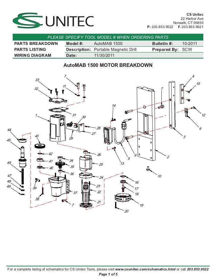 Mag Drill Wiring Schematic Wiring Diagrams Schematic