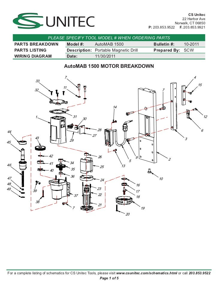 CS Unitec Electric Magnetic Drills Schematic: AutoMAB 1500 on electric drill repair, electric drill drawings, electric drill designs, jack hammer schematics, computer schematics, floor jack schematics, electric drill accessories, electric drill blueprints, electric drill circuit, sewing machine schematics, television schematics, electric drill safety,