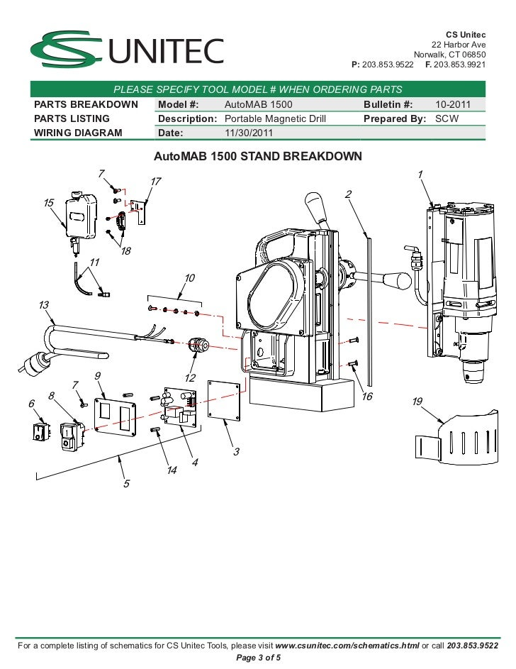 Mag Drill Wiring Schematic Wiring Diagrams