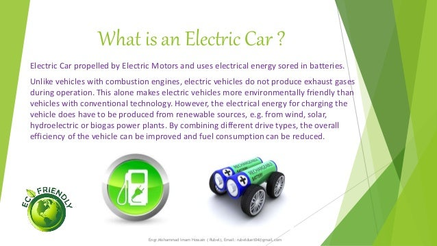ELECTRIC VEHICLES AND IT'S FUTURE PROSPECT  Slide 2