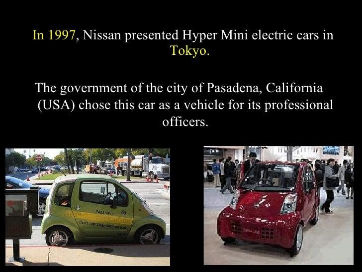 City Of Pasadena Electric Car