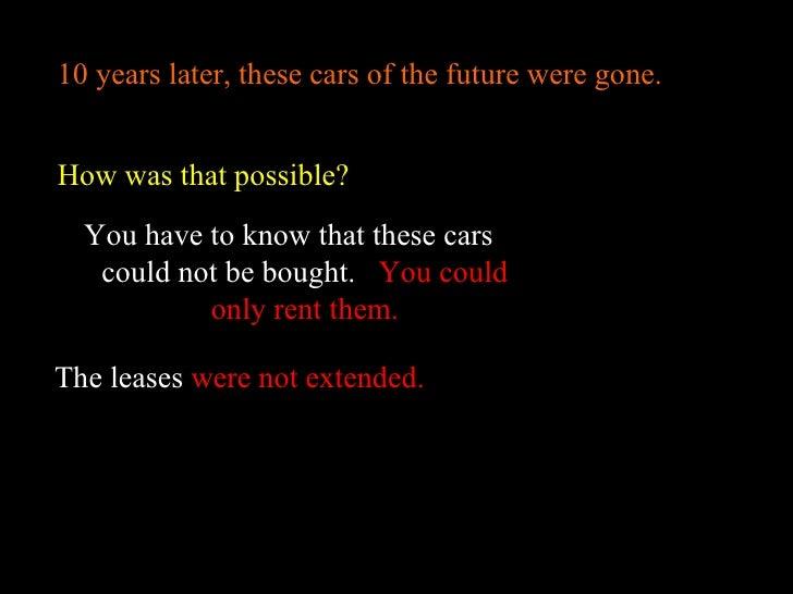 Electric Car Conspiracy