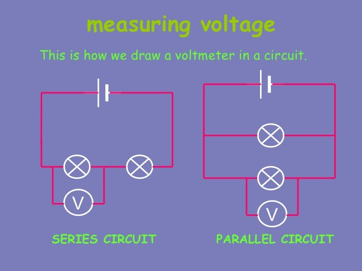 Voltmeter In Parallel : Electric circuits