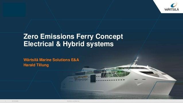 © Wärtsilä Zero Emissions Ferry Concept Electrical & Hybrid systems Wärtsilä Marine Solutions E&A Harald Tillung Interferr...