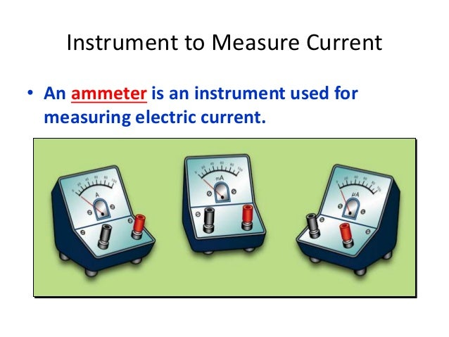 Instrument Current Electricity : Electric field circuit and current