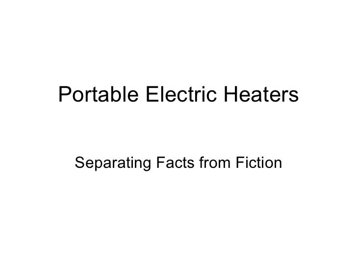 Portable Electric Heaters Separating Facts from Fiction