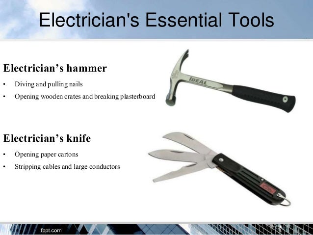 Electricians Tools For Completing Jobs