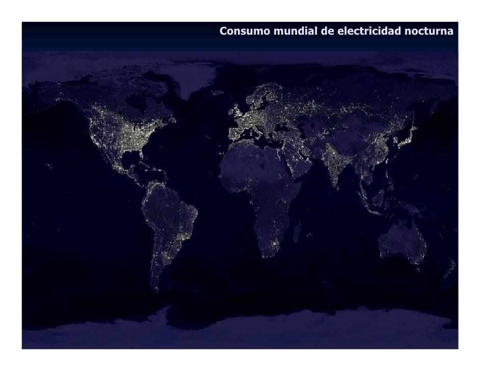 Consumo mundial de electricidad nocturna