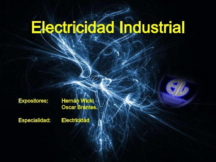 Que es un electricista industrial