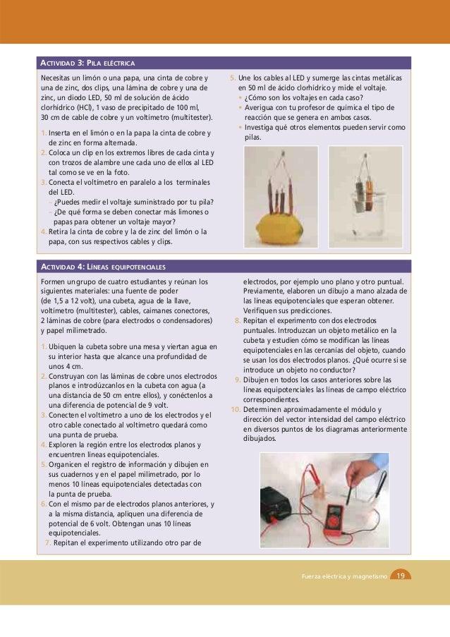 ACTIVIDAD 3: PILA   ELÉCTRICANecesitas un limón o una papa, una cinta de cobre y        5. Une los cables al LED y sumerge...