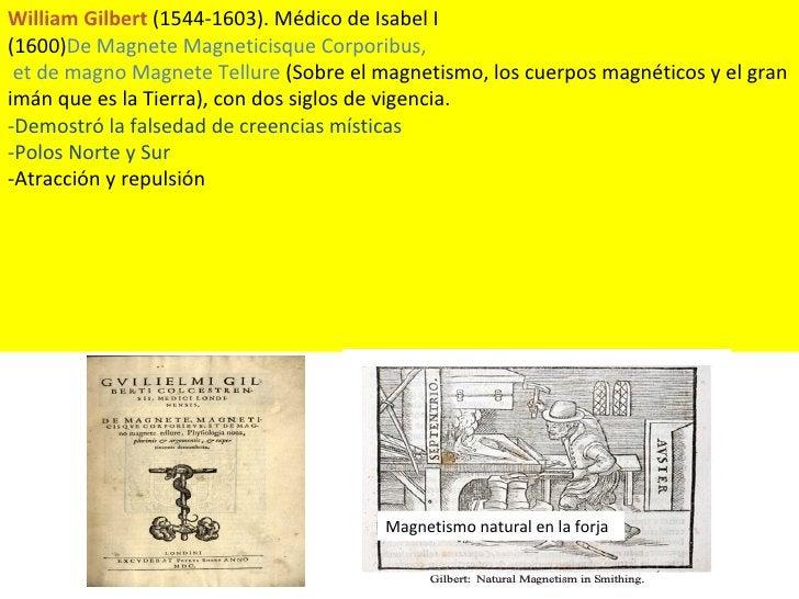 William Gilbert  (1544-1603). Médico de Isabel I (1600) De Magnete Magneticisque Corporibus, et de magno Magnete Tellure  ...