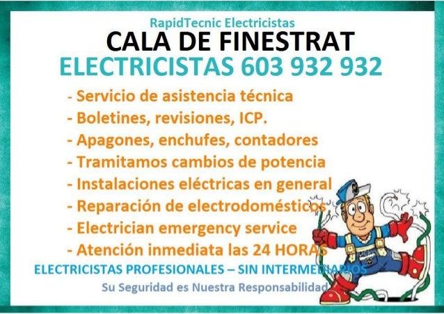 Electricistas Cala de Finestrat 603 932 932
