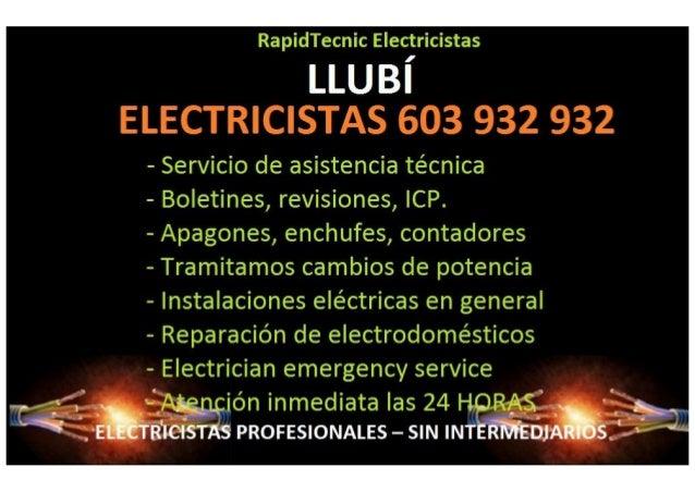 Electricistas Llubi 603 932 932