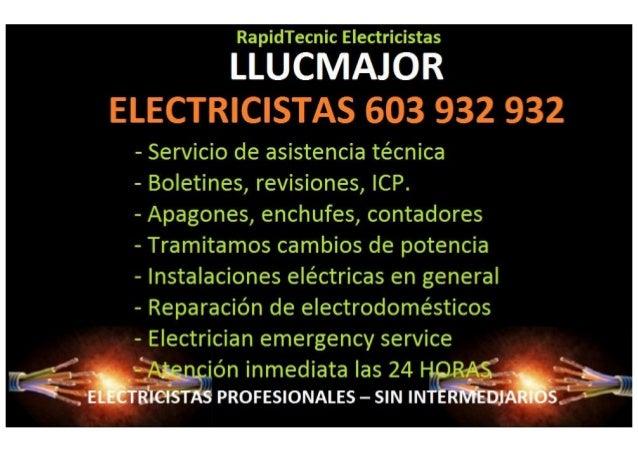 LLUQMÁJÜR  - Servicio de asistencia técnica  - Boletines,  revisiones,  ICP.   - Apagones,  enchufes,  contadores  - Trami...