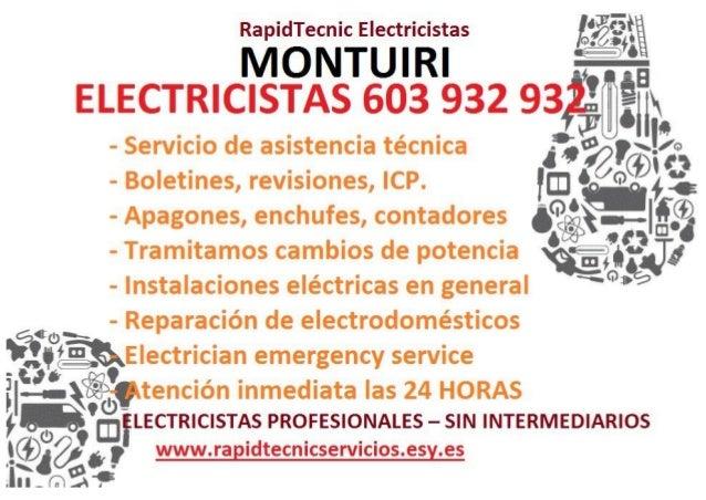 Ra i Tecnic E ectricistas  IvTbNT'uIRI  ELECTRICISTAS 603 932 gsgwfl - Servicio de asistencia técnica '-? ,t%'G3'2o»P  - Ap...