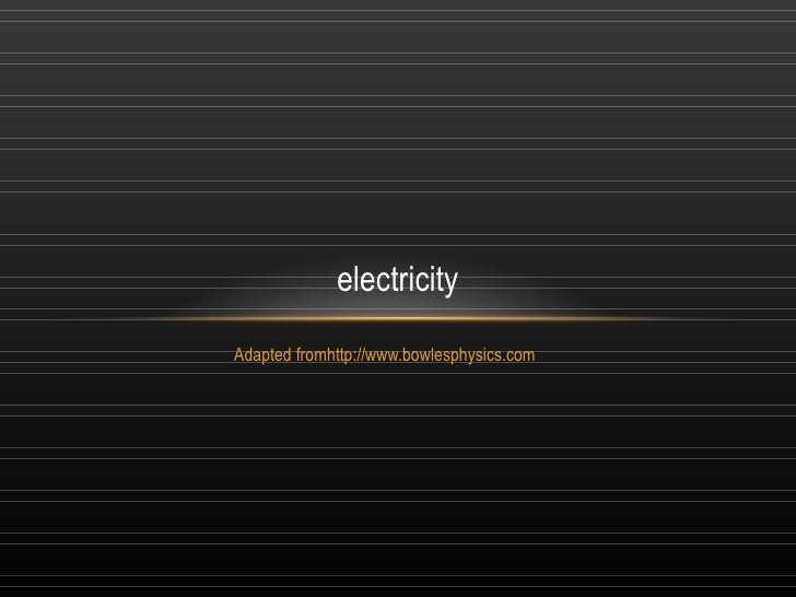 electricityAdapted fromhttp://www.bowlesphysics.com