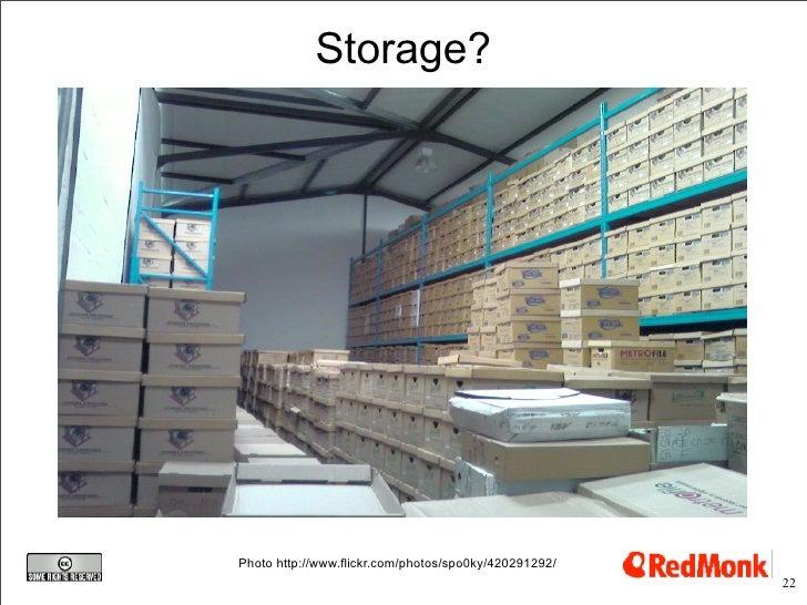 Storage?     Photo http://www.flickr.com/photos/spo0ky/420291292/                                                        22