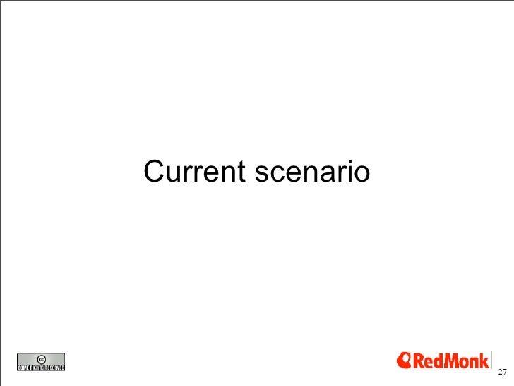 Current scenario                        27