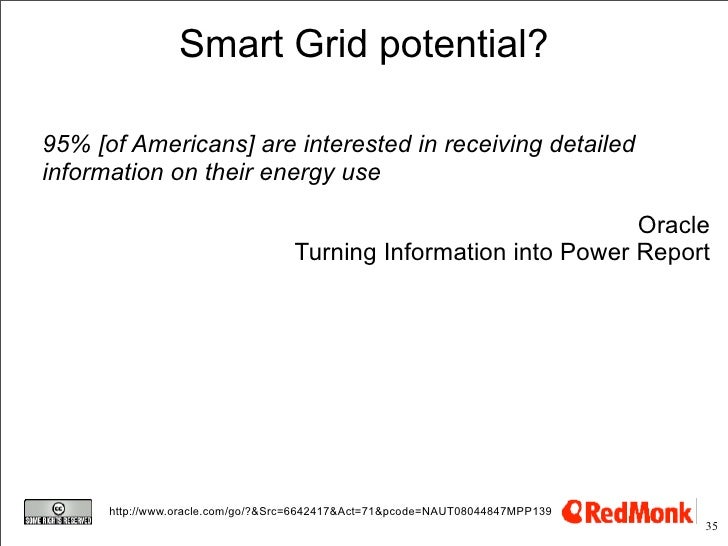 Smart Grid potential?  95% [of Americans] are interested in receiving detailed information on their energy use            ...