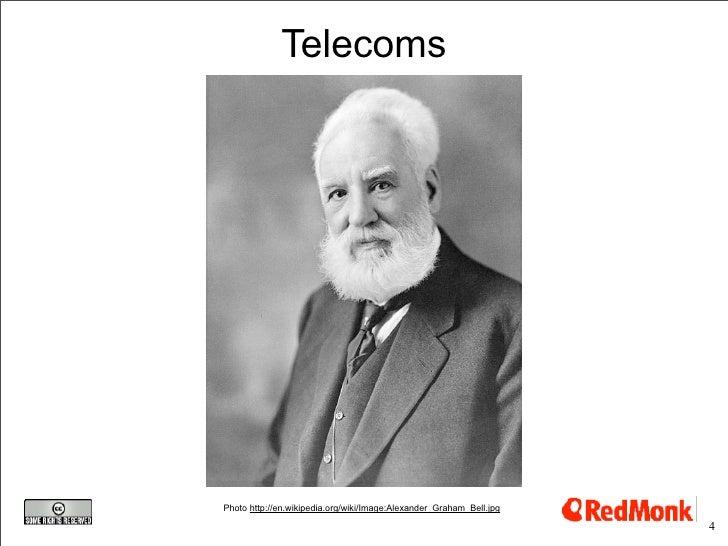 Telecoms     Photo http://en.wikipedia.org/wiki/Image:Alexander_Graham_Bell.jpg                                           ...
