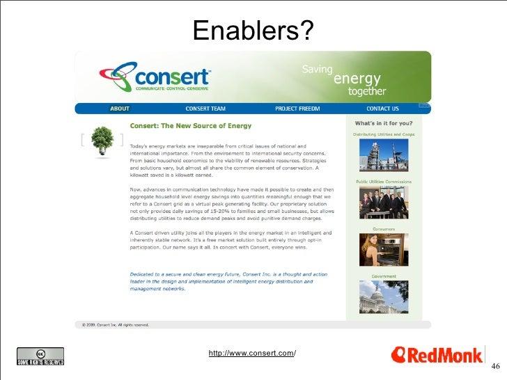 Enablers?      http://www.consert.com/                            46