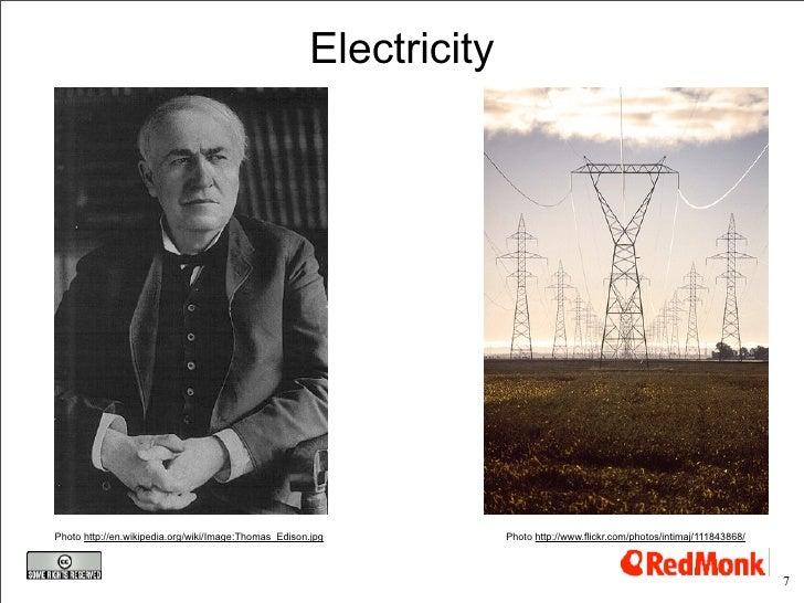 Electricity     Photo http://en.wikipedia.org/wiki/Image:Thomas_Edison.jpg          Photo http://www.flickr.com/photos/int...