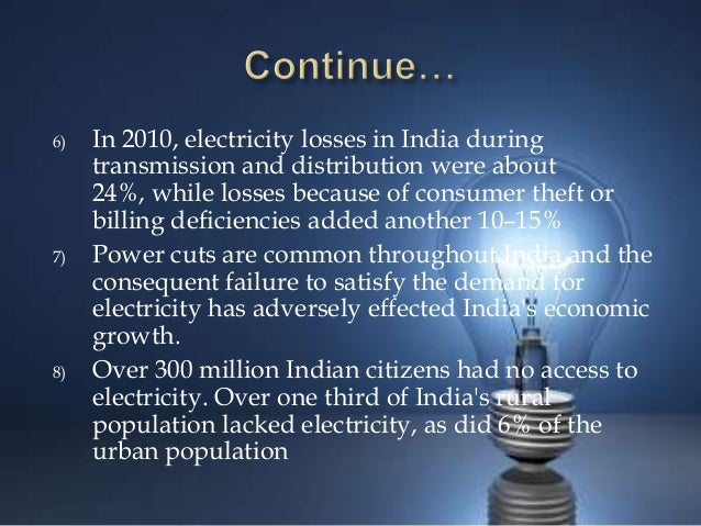 Electricity Distribution Losses In India