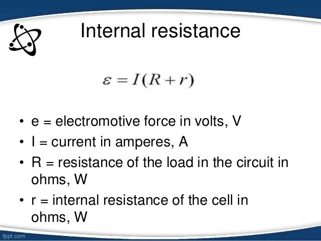 Up The Circuit Connect The Cell Load Resistor Etc And The Ammeter