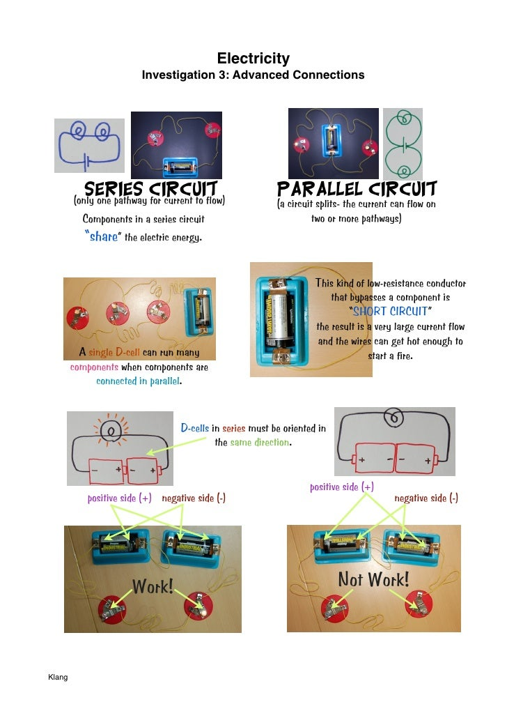 Electricity                          Investigation 3: Advanced Connections                Series Circuit         (only one...