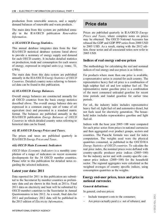 Electricity information IEA