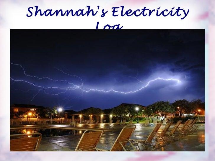Shannah's Electricity Log