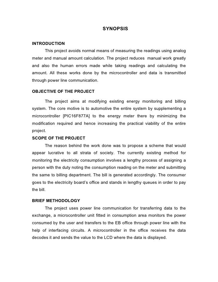 SYNOPSISINTRODUCTION        This project avoids normal means of measuring the readings using analogmeter and manual amount...
