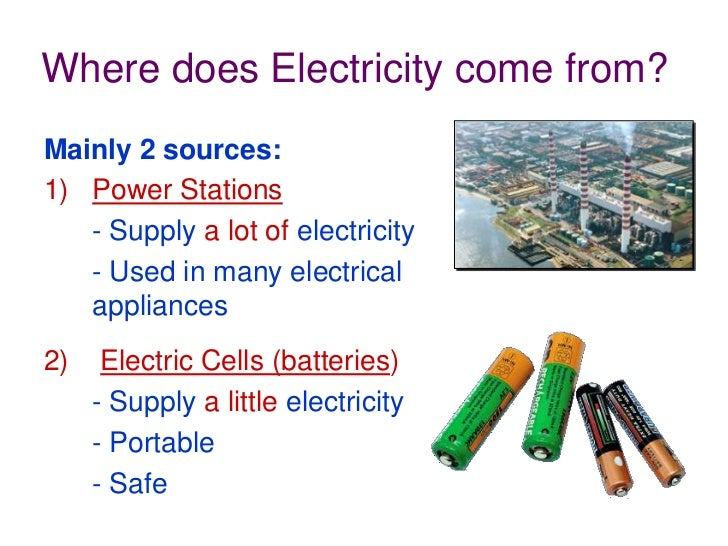 Definition Of Electricity For Grade 4