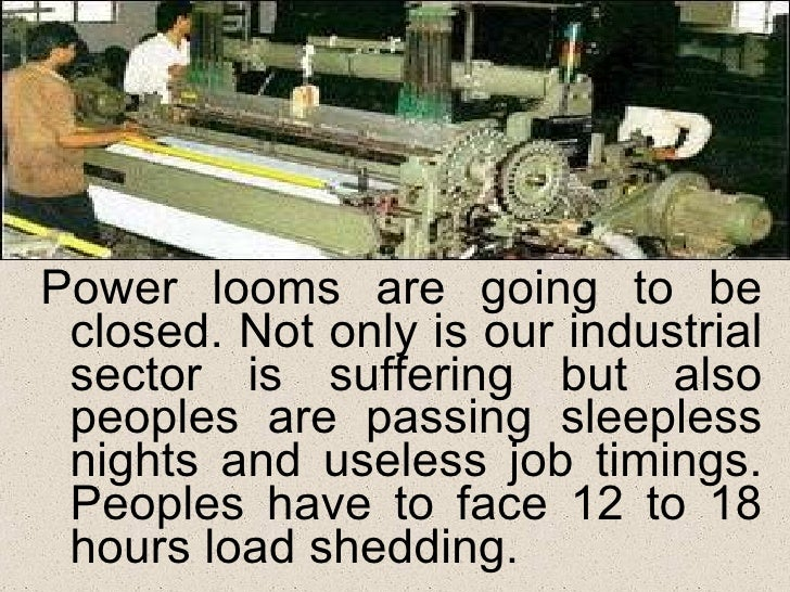 a paragraph on load shedding