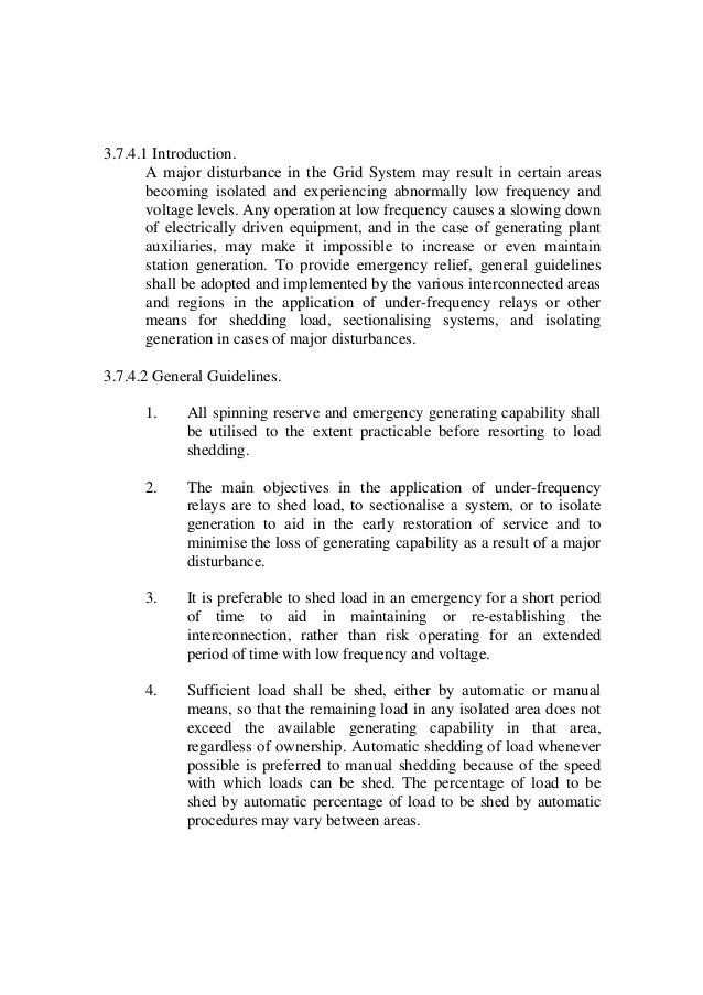 Electricity Primary Grid Code Regulations 2003