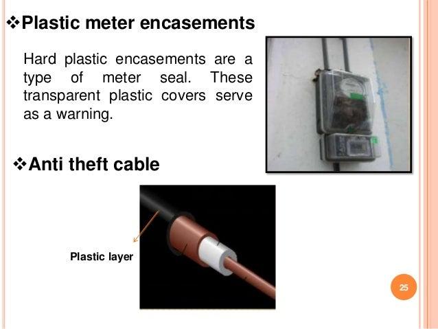 Plastic meter encasements Hard plastic encasements are a type of meter seal. These transparent plastic covers serve as a ...