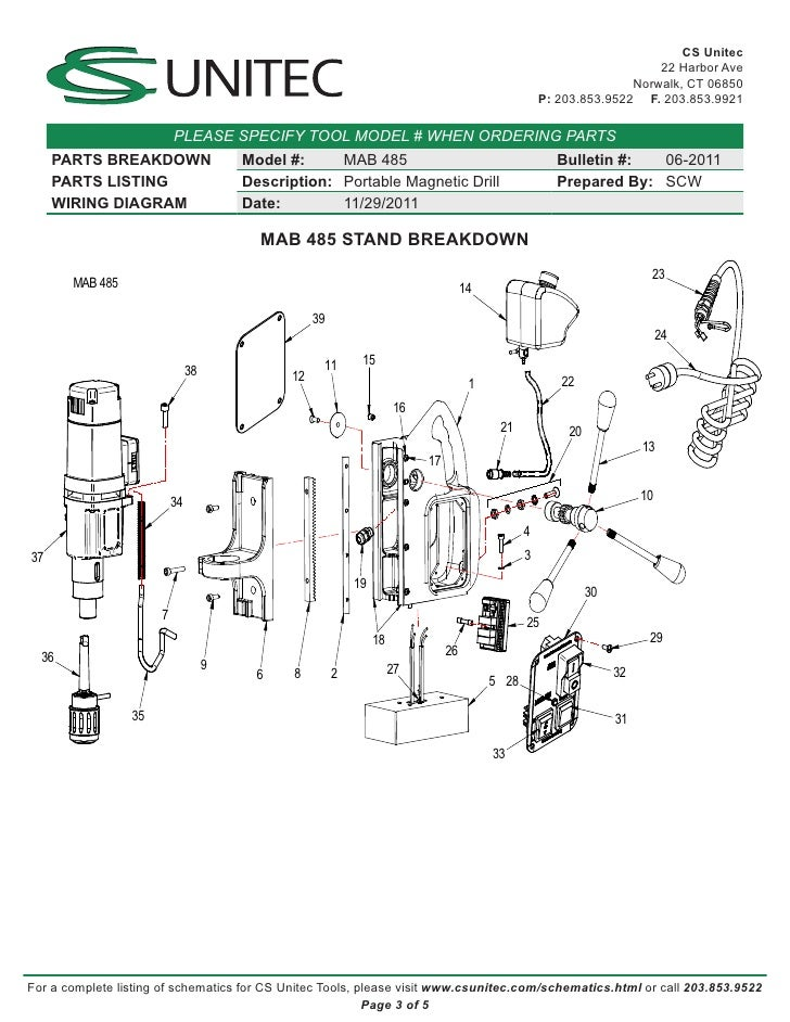 Wiring Diagram For Electric Drill : Mag drill wiring diagram images
