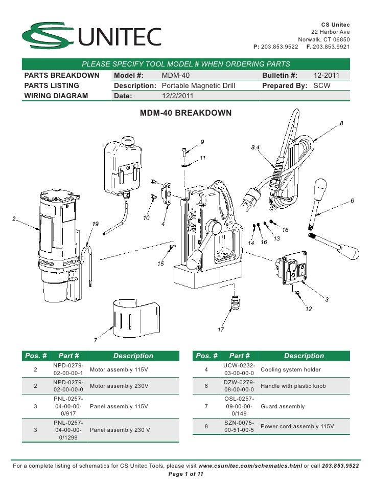 Mag Drill Wiring Schematic Wiring Diagram Libraries
